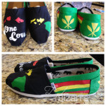 Hand painted One Love Hawaii inspired Toms.