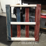 Small Americana pallet shelf.
