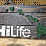 HILife Hawaii inspired string art.