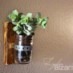 Mounted Mason Jar