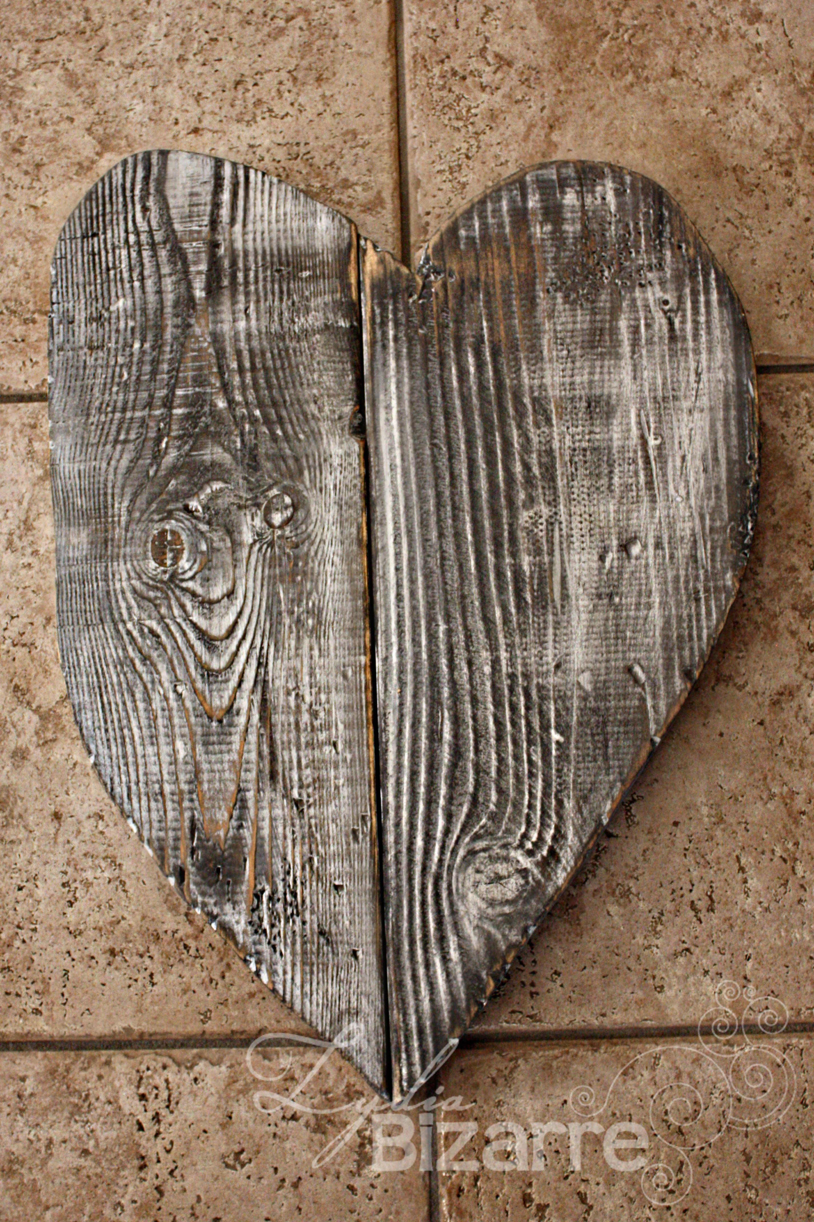 lydia bizarre wood heart