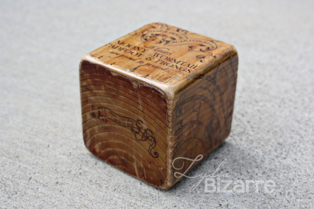 Marauders Map Wood Block
