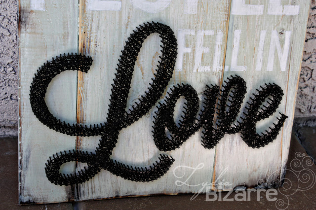 All because two people fell in love. String art. Lydia Bizarre.
