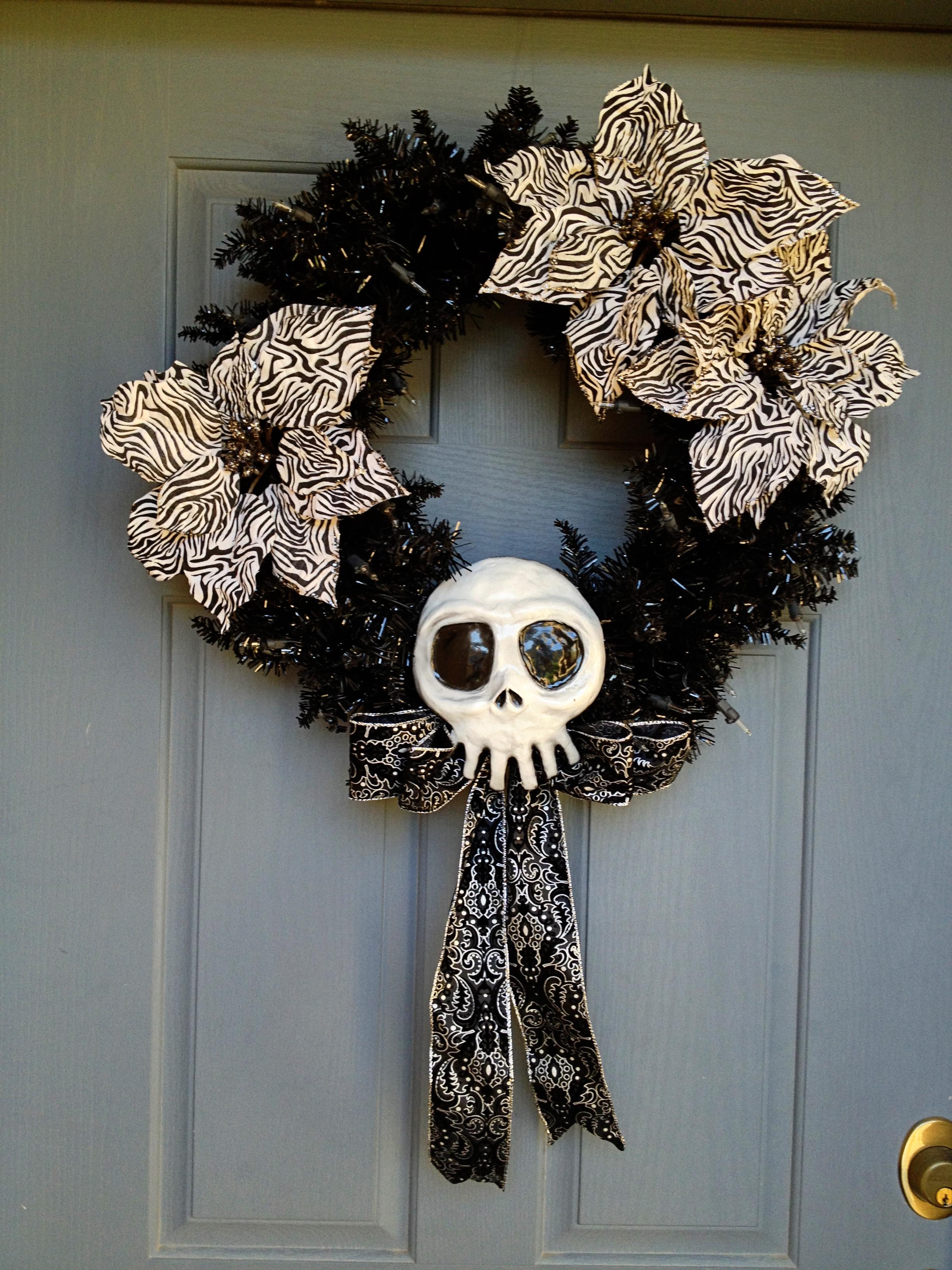 Skellington Skull Wreath