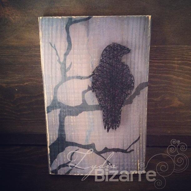 Raven String Art