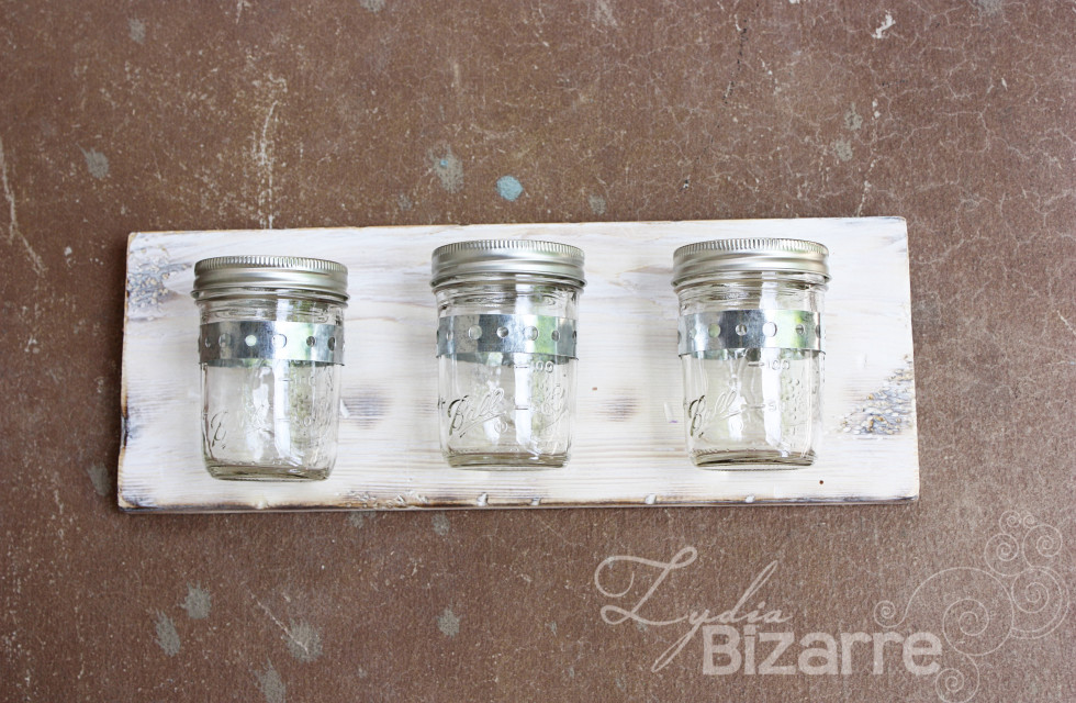 Mounted Mason Jars